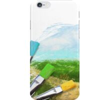 Tree On Field iPhone Case/Skin