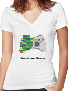 Times have changed Women's Fitted V-Neck T-Shirt
