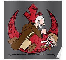 Lets be Jedi (Old Ben & Luke) Poster