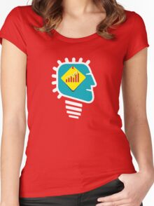 men with growth idea Women's Fitted Scoop T-Shirt