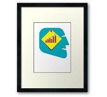 men with growth idea Framed Print