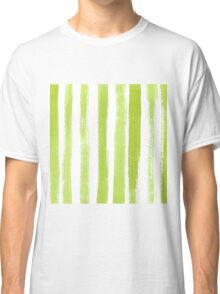 Green watercolor texture Classic T-Shirt