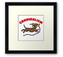 Sausage Dog Cannibal Framed Print