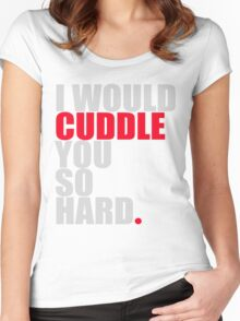 cuddle (red/gry) Women's Fitted Scoop T-Shirt