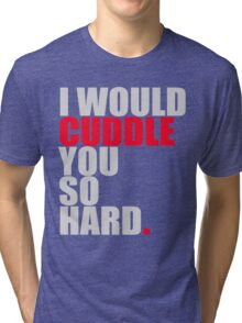 cuddle (red/gry) Tri-blend T-Shirt