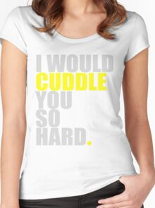 cuddle (yellow) Women's Fitted Scoop T-Shirt