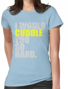 cuddle (yellow) Womens Fitted T-Shirt