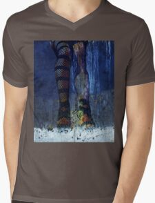 CAUGHT ~ UNDERDRESSED FOR THIS STORM Mens V-Neck T-Shirt