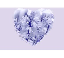 Blue Blue Heart Photographic Print