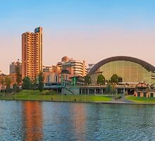 Adelaide Riverbank panorama by Ray Warren