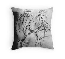 Sitting from Be in Touch series Throw Pillow