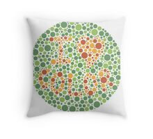 I love color Throw Pillow