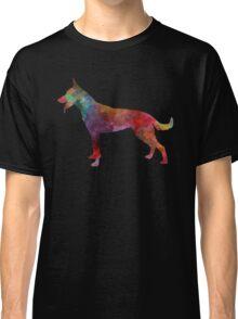Dutch Shepherd Dog in watercolor Classic T-Shirt
