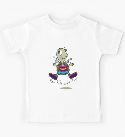 One Happy Stripes Turtle with wings Kids Tee