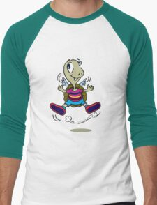 One Happy Stripes Turtle with wings Men's Baseball ¾ T-Shirt