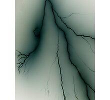 Negative Lightning Photographic Print