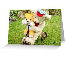 Two on a trike Greeting Card