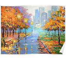 Autumn in the big city Poster
