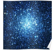 Blue Star Cluster Triangle | Fresh Universe Poster