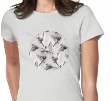 Sparrow Flight - monochrome Womens Fitted T-Shirt