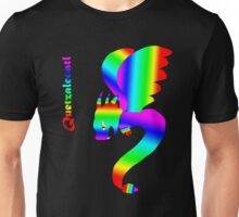 Flying Quetzalcoatl No Flames Rainbow Unisex T-Shirt
