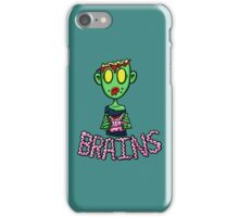 Zombie Eating Brains iPhone Case/Skin