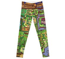 Zelda - Link's awakening world map Leggings