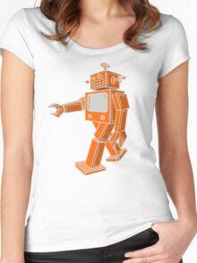 Robot Walk Women's Fitted Scoop T-Shirt
