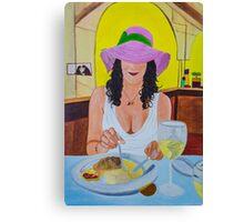 le chapeau rose Canvas Print