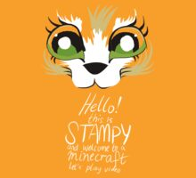 """Hello it's Stampy!"" - Stampy cat face t-shirt by Julia Borsos"