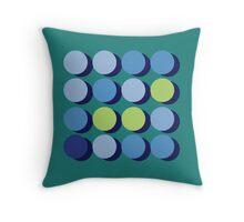 Blue circles 4 x 4 Throw Pillow