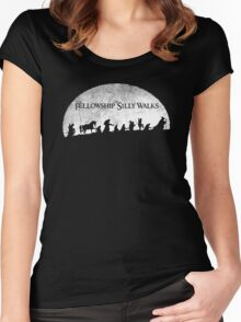 The Fellowship of Silly Walks Women's Fitted Scoop T-Shirt
