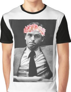 Ted Bundy Flower crown collection. Graphic T-Shirt