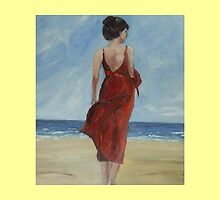 A walk along the beach. sandy by Caroline Martin