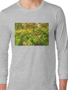 Impressions of Gardens - the Untamed Tulip Forest in Spring Long Sleeve T-Shirt