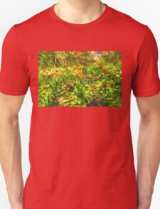 Impressions of Gardens - the Untamed Tulip Forest in Spring T-Shirt