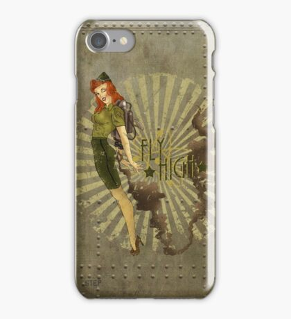 Fly High Dieselpunk Woman iPhone Case/Skin