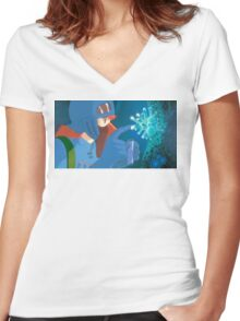 Nausea of the Valley of the Wind Women's Fitted V-Neck T-Shirt