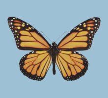 orange butterfly One Piece - Short Sleeve