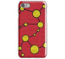 Interconnected Gold Pattern (Red) iPhone Case/Skin