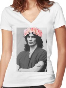 richard ramirez collection. Women's Fitted V-Neck T-Shirt