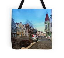 Pictoresque traditional village center   architectural photography Tote Bag