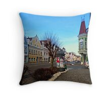 Pictoresque traditional village center | architectural photography Throw Pillow