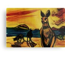 Kangas on beach Metal Print