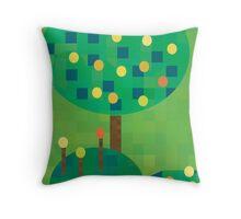 Citrus orchard Throw Pillow