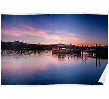 Derwentwater Sunset Cumbria Poster