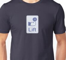 Lift  (vertical logo) Unisex T-Shirt