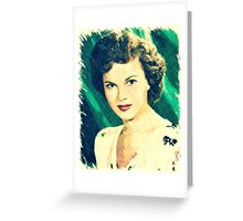 Shirley Temple by John Springfield Greeting Card