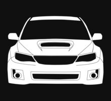 Full Frontal Tee - Subaru Impreza WRX STI 08 - 12 Apparel Design  One Piece - Long Sleeve
