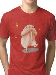 Cartoon Walking Penis Tri-blend T-Shirt